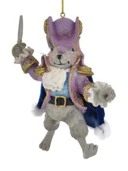 Lavender Nutcracker Suite Mouse King Ornament C7654 side