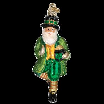 Irish Santa Glass Ornament