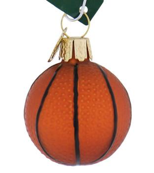 Miniature Basketball Glass Ornament