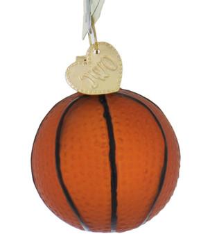 Miniature Basketball Glass Ornament side