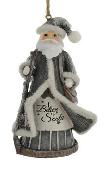Satchel Santa Ornament Believe in Santa