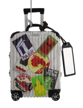 Asia, Europe, US Travel Luggage Ornament