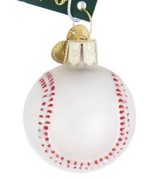Miniature Baseball Glass Ornament