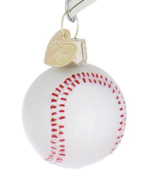 Miniature Baseball Glass Ornament side