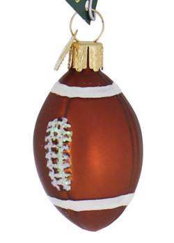 Miniature Football Glass Ornament