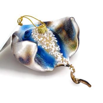 "Designer Sting Ray Glass Ornament, 2 1/4 x 5 1/2"", KANB1343"