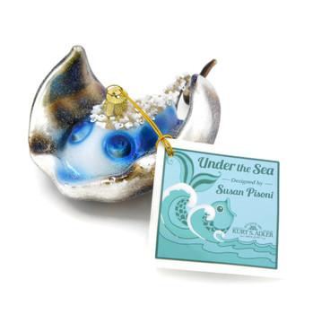 Swimming Sting Ray Glass Ornament nb1343