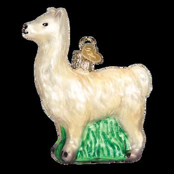 Llama Glass Ornament