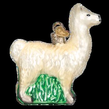 Llama Glass Ornament right side