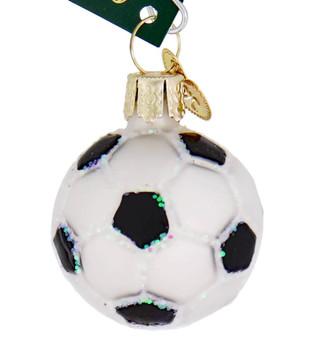 Miniature Soccer Ball Glass Ornament
