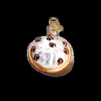 Cannoli Glass Ornament side