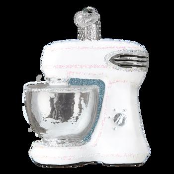 White Stand Mixer Glass Ornament