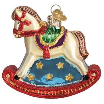 Rocking Horse Glass Ornament