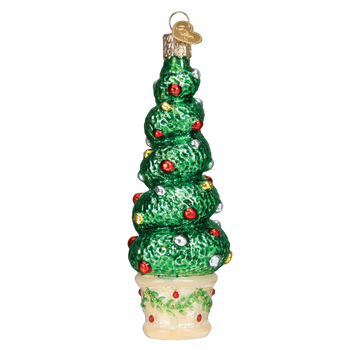 Holiday Topiary Glass Ornament