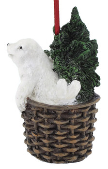 Arctic Wildlife White Seal Ornament side