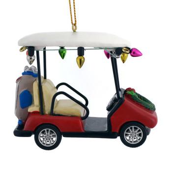 "Holiday Golf Cart Ornament, 2 3/4 x 3 3/8"", KAD3444"