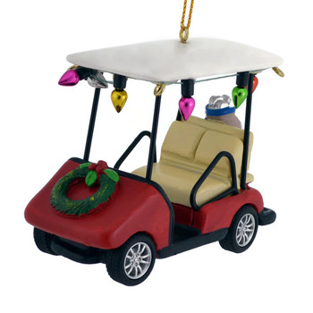 Holiday Golf Cart Ornament front