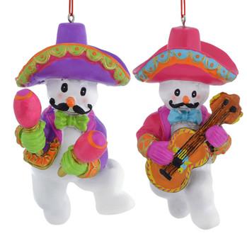 Mariachi Musician Snowman Ornaments
