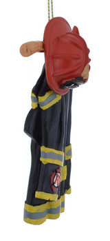 Firefighter Uniform and Axe Ornament right side