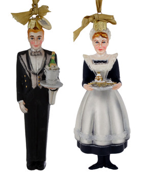 Butler or Maid Downton Abbey Glass Ornament