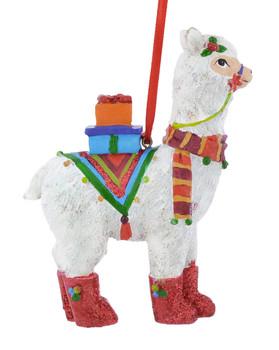 Peru Llama Ornament forward