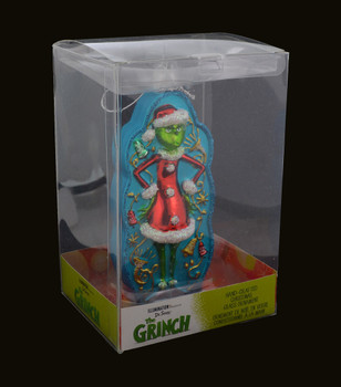 The Grinch and Cindy Lou Glass Ornament boxed