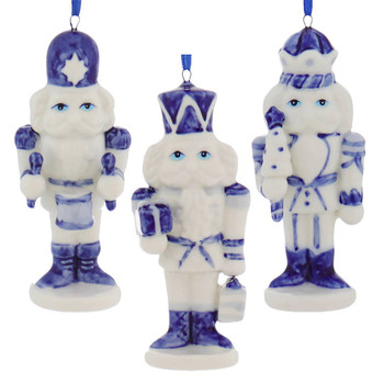 Delft Styled Blue and White Nutcracker Ornaments