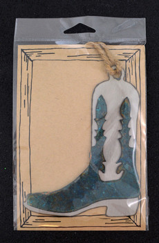 Cowboy Boot Patina Metal Ornament package