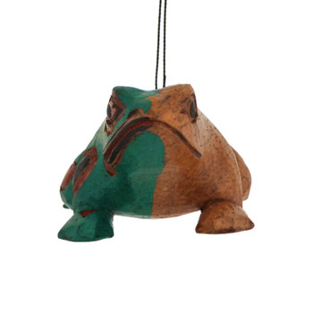 Totemic Art Frog Wood Ornament front