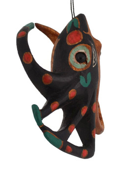 Totemic Art Octopus Wood Ornament right side