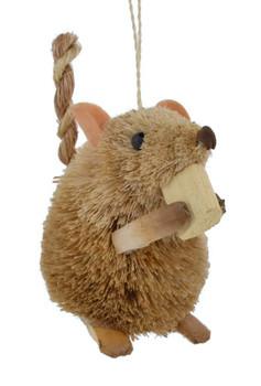Munching Bristle Buri Brown Mouse Ornament angle