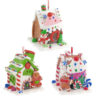 Candy and Pastry Gingerbread House Ornament