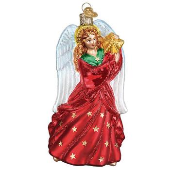 "Radiant Angel Glass Ornament, 5 3/4"", OWC# 10233"