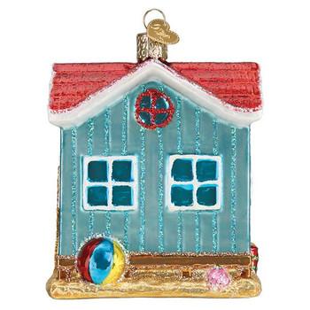 """Beach House Glass Ornament, 3 3/4"""", OWC# 20112"""