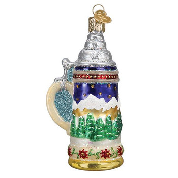 "German Stein Glass Ornament, 4"", OWC# 32369"