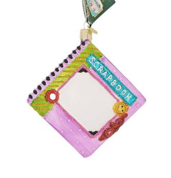 """Scrapbook Glass Ornament, 5"""", OWC# 32371"""