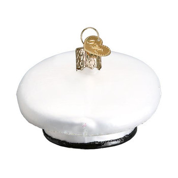 "U.S. Marine's Cap Glass Ornament, 1 3/4 x 3 3/4"", OWC# 32378"