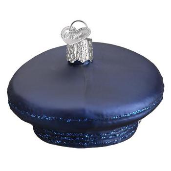"""Air Force Cap Glass Ornament, 2 x 3 1/4"""", OWC# 32379"""