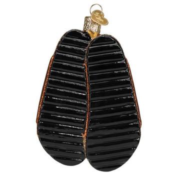 "Sandals Glass Ornament, 4"", OWC# 32380"