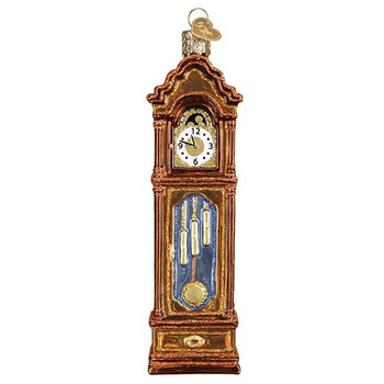 "Grandfather Clock Glass Ornament, 5 1/2"", OWC# 32382"