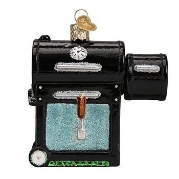 "Smoker BBQ Glass Ornament, 3 1/2"", OWC# 32388"