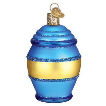 "Honey Pot Glass Ornament, 3 3/8"", OWC# 32391"
