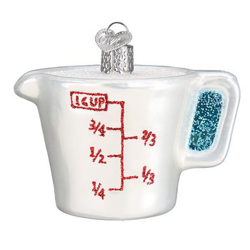 """Measuring Cup Glass Ornament, 3 1/4"""", OWC# 32392"""