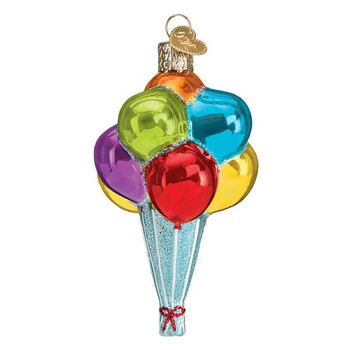 """Balloons Glass Ornament, 4 1/4"""", OWC# 36259"""