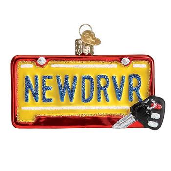 """New Driver Glass Ornament, 2 1/4 x 3 5/8"""", OWC# 36260"""
