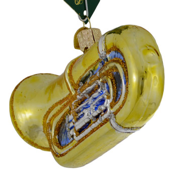 Tuba Glass Ornament 38055 back