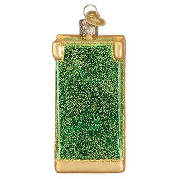 "Cornhole Game Glass Ornament, 4"", OWC# 44117"