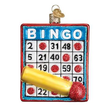 """Bingo Glass Ornament, 3 1/2"""", OWC# 44137"""