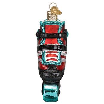 "Inline Skate Glass Ornament, 3 3/4"", OWC# 44142"