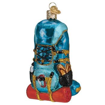 """Hiking Backpack Glass Ornament, 4"""", OWC# 44143"""
